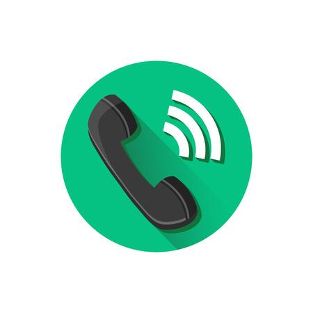 waiting phone call: Vector Ringing Phone Icon