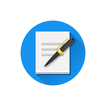 documentation: Vector Sheet of Paper and Pen Icon