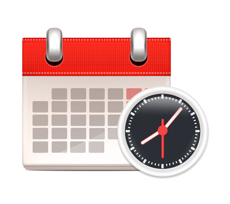 Black Clock and Calendar  Business Icon
