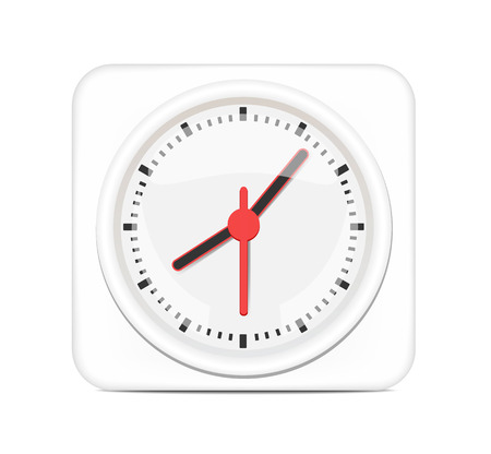 pm: White Desktop Clock  Illustration