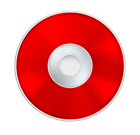 compact disk: Red Realistic CD Disk