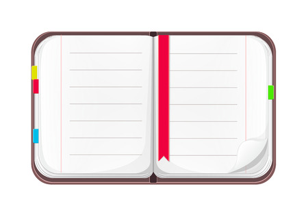 cahier ouvert: Ouvrir Cartoon Notebook Illustration