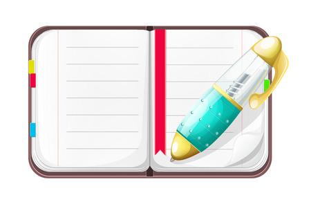 moleskin: Cartoon Open Notebook with Pen