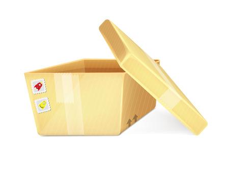 cartoon transportation: Cartoon Open Box