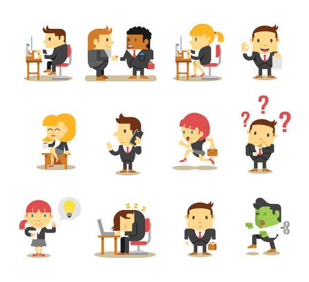 ビジネスにオフィスの人々。