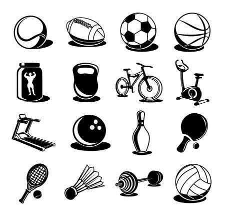 hurl: black icon sport set Illustration