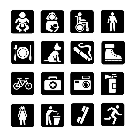 wheelchair: public icons set
