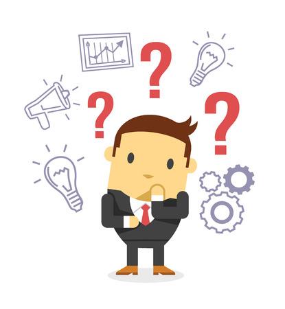 pensador: Vector plana ilustración de negocios Vectores