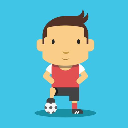 Football Player Mascot. 向量圖像