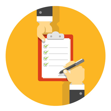 Vector flat agreement illustration