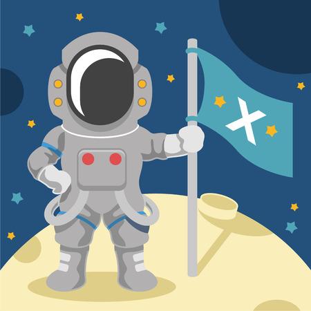 Astronaut vector flat illustration