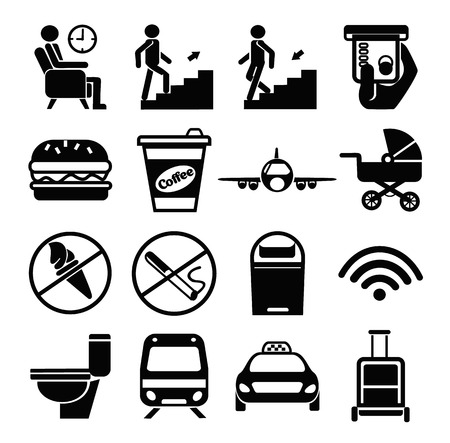 toilette: Vector public icons set