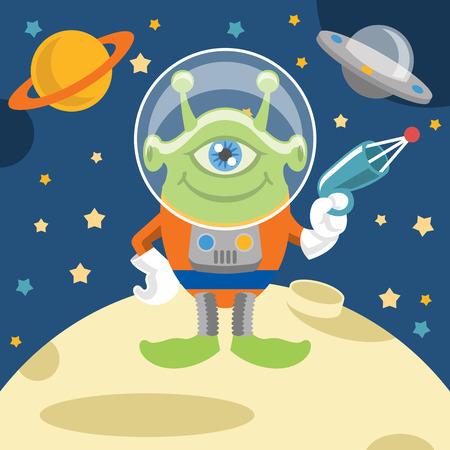 booster: UFO illustration vectorielle