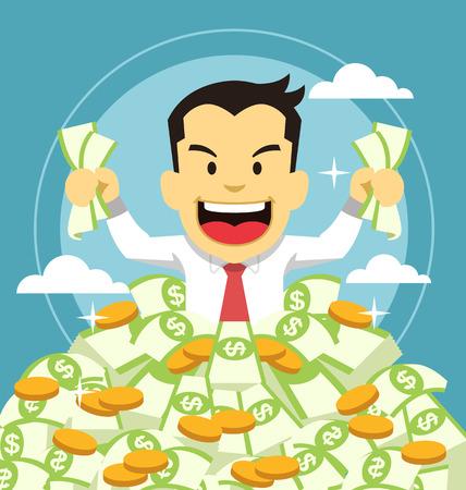 Homme d'affaires et de l'argent Vecteurs