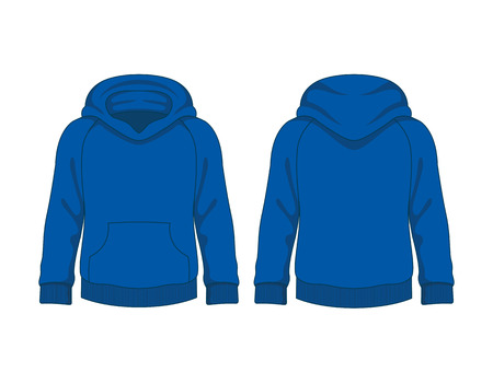 simple store: Kids hoodie. Vector template