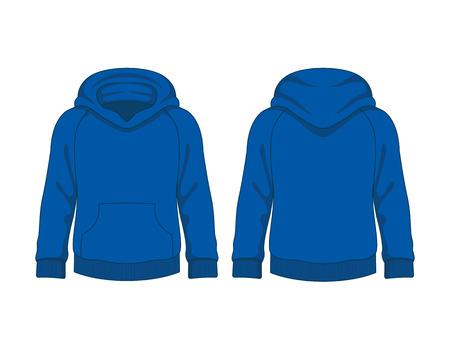 sweatshirt: Ni�os sudadera con capucha. Modelo del vector