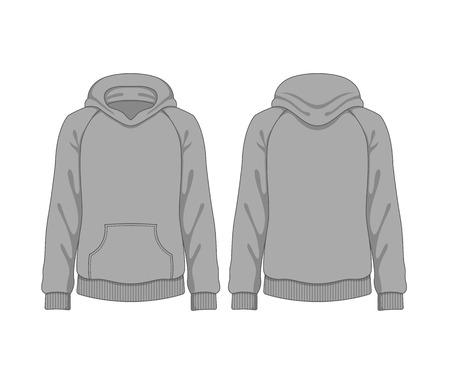 Man hoodie. Vector template Vector