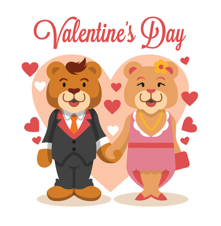 Valentijnsdag. Vector platte illustratie