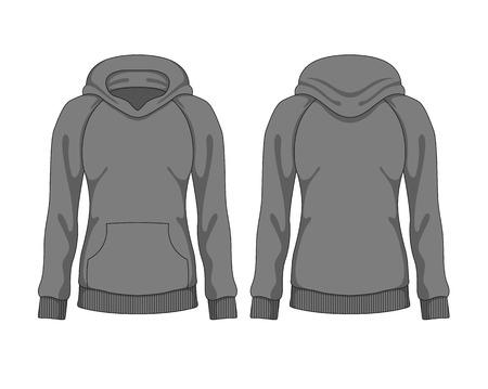 hoodie: Woman hoodie. Vector template