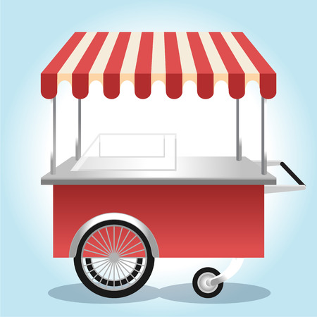 wagon wheel: Ice Cream Shop. Vector illustration