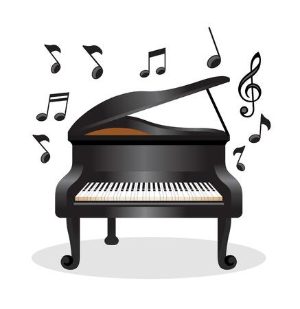 Piano vector illustration Vectores