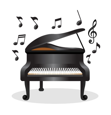 Piano vector illustration Çizim