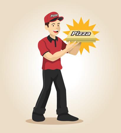 Delivery man. Vector flat illustration