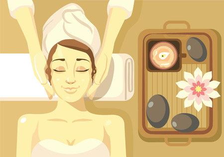 head massage: Spa illustration