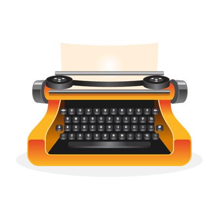 Vector typewriter illustration