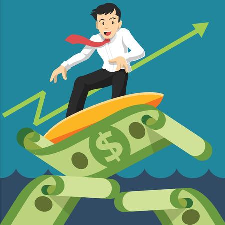 Vector successful businessman. Vector illustration Illustration