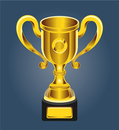 hon: Vector gold cup. Vector illustration