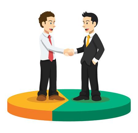 equal: Vector business illustration Illustration