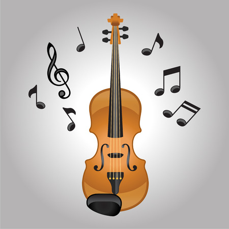 concerto: Violin melodies vector illustration Illustration
