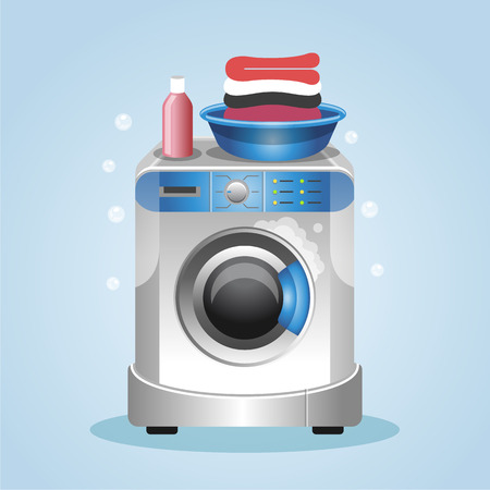 Washing machine. Vector illustration Illustration