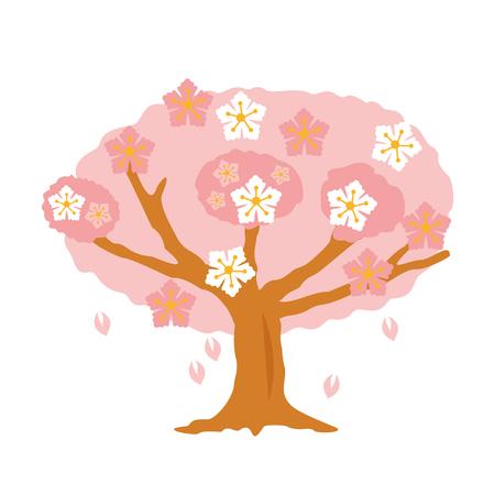 cherry blossom tree: Cherry blossom tree vector illustration