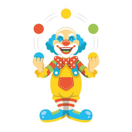 Funny clown character vector illustration Illustration