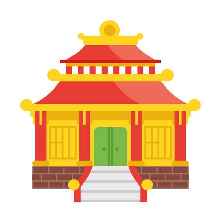 Ilustración vector de la casa japonesa