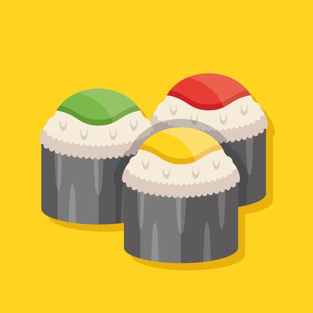 stuffing: Japanese rolls vector illustration