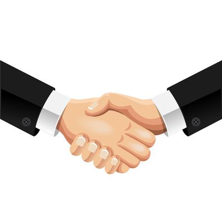 stretta di mano: Vector handshake illustrazione
