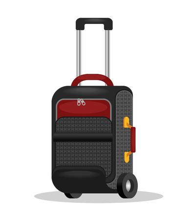holdall: Vector traveling bag illustration