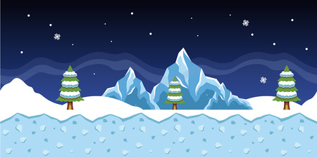 ap: Vector winter game background