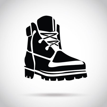 work boots: Black boot icon
