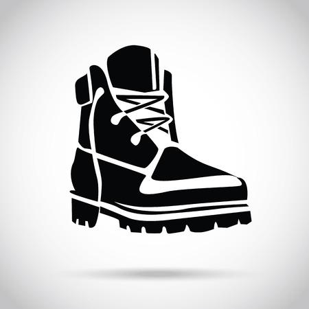 botas: Icono de arranque Negro Vectores