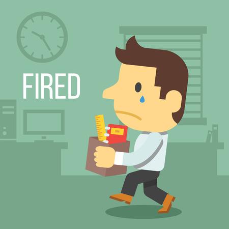 Oficinista Despedido Foto de archivo - 37352557