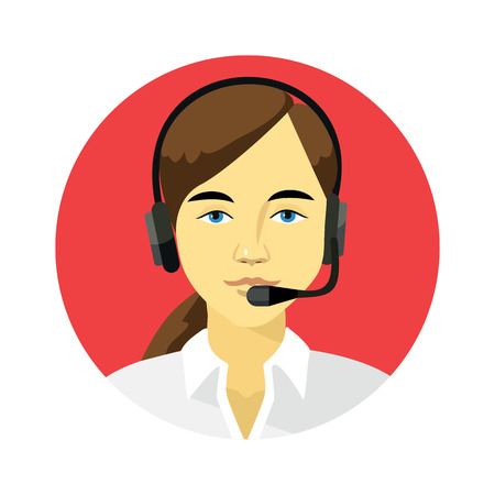 customer assistant: Support manager round icon