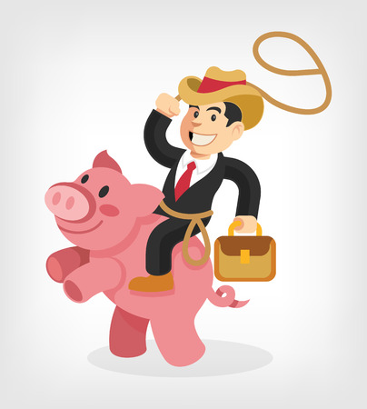 Businessman riding. Vector illustration Vector