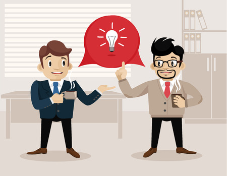 life is good: Business life. Vector flat illustration. Good idea
