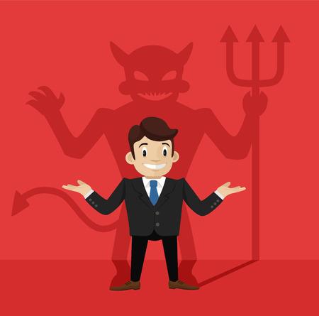 swindler: Businessman\\\\ Illustration