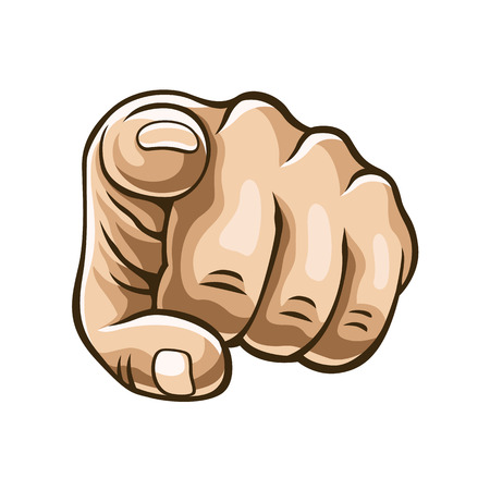 Vector pointing finger illustration
