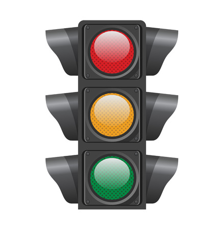 Traffic lights. Vector illustration Illusztráció